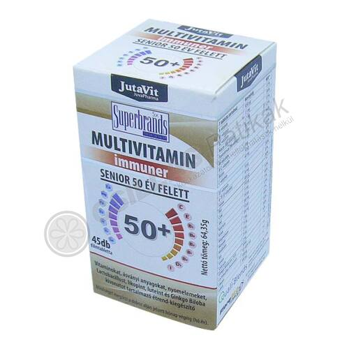 JutaVit Multivitamin Senior 50+ tabletta (45x)