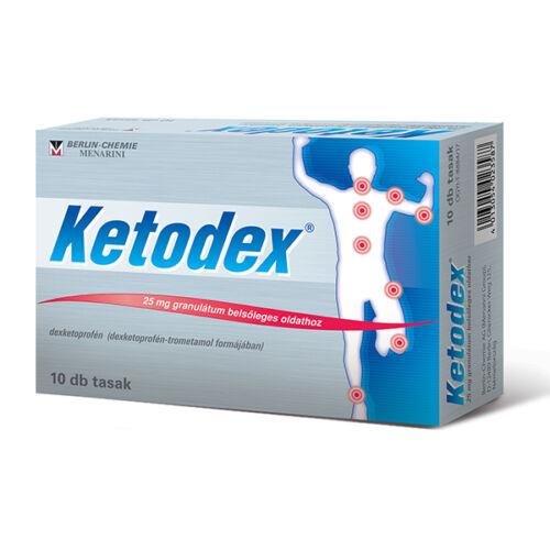 Ketodex 25 mg granulátum belsőleges oldathoz (10x)