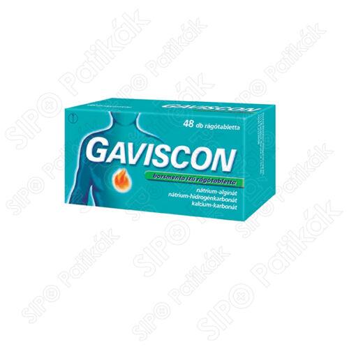 Gaviscon rágótabletta borsmenta ízű (48x)
