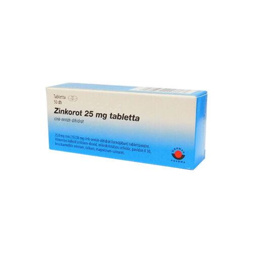 Zinkorot 25 mg tabletta (50x)
