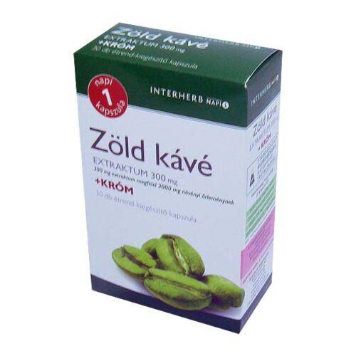 Napi 1 Zöldkávé 300 mg Króm kapszula (30x)
