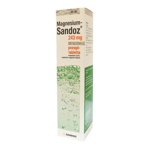 Magnesium-Sandoz 243mg pezsgőtabletta (20x)