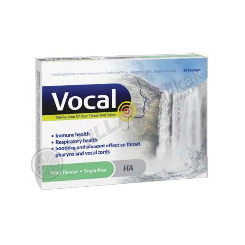 Vocal szopogató tabletta Menta (24x)