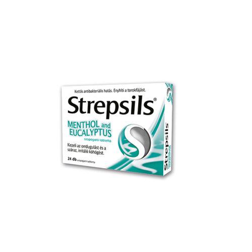 Strepsils Menthol and eucalyptus szopogató tabl. (24x)