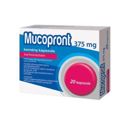 Mucopront 375 mg kemény kapszula (20x)