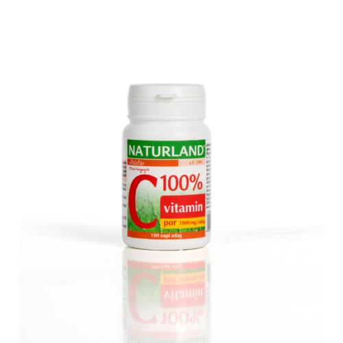 Naturland C-vitamin 100% por (100g)