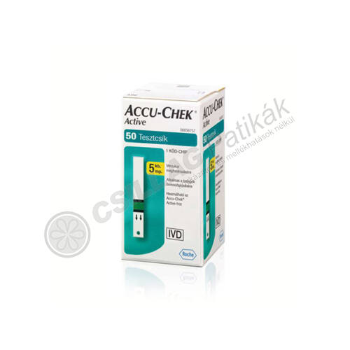 AccuChek Active Glucose vércukorszintmérő csík (50x)