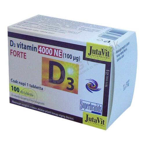 JutaVit D-vitamin 4000NE Forte tabletta (100x)