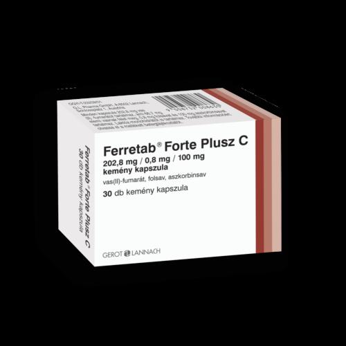 Ferretab Forte Plusz C 202,8mg/0,8mg/100mg kapsz. (30x)