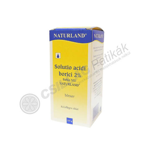 Sol. acidi borici 2% FoNo VII NATURLAND (200g)