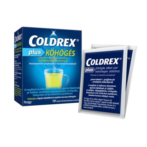 Coldrex Plus köhögés elleni por belsőleges oldatho (10x)
