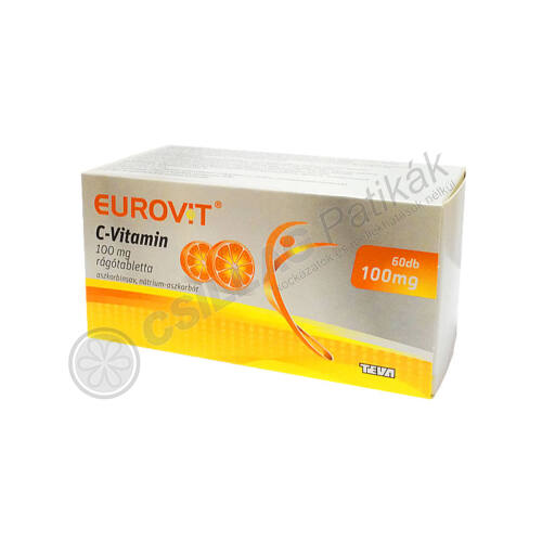 Eurovit C-vitamin 100mg rágótabletta (60x)