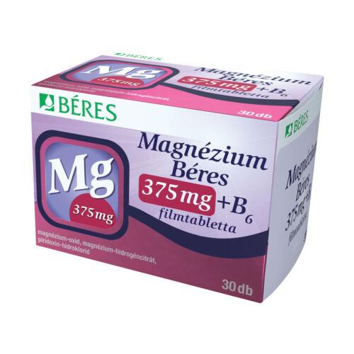 Magnézium Béres 375mg+ B6 filmtabletta (60x)