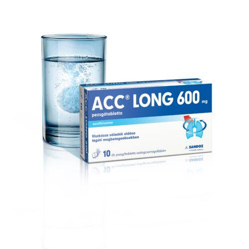 ACC long 600 mg pezsgőtabletta (10x tasakban)