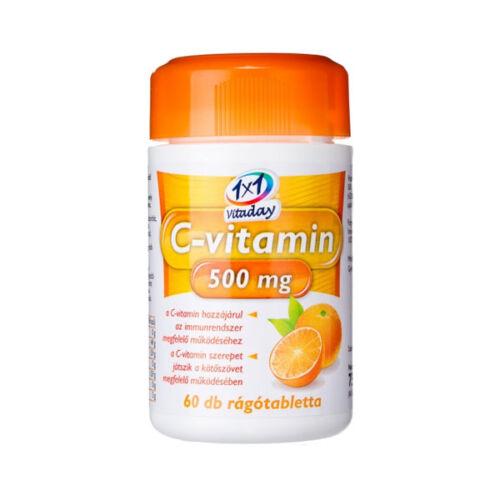 VitaPlus 1x1 Vitaday C 500 rtbl. narancs (60x)