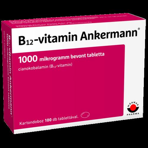 B12-vitamin Ankermann® 1000 mikrogramm bevont tabletta (100x)