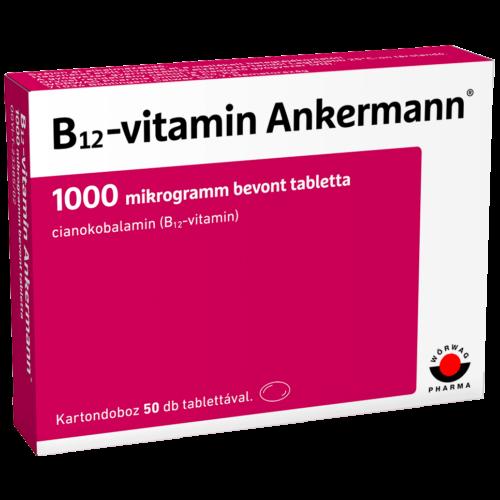 B12-vitamin Ankermann® 1000 mikrogramm bevont tabletta (50x)