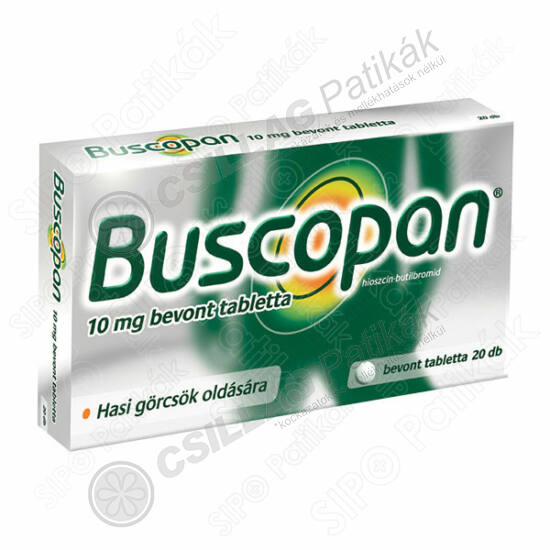 Buscopan 10 mg bevont tabletta (20x)