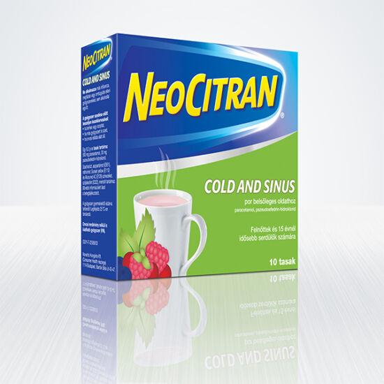 Neo Citran Cold and Sinus por belsőleges oldathoz (10x)
