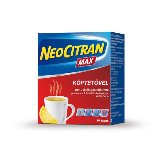 Neo Citran Max köptetővel oldathoz por belsőleges (10x)