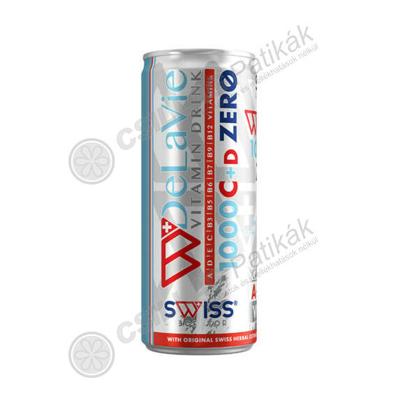 Swiss Delavie Zero C1000mg+D vitamin ital (250ml)