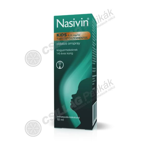 Nasivin Sanft 0,25mg/ml oldatos orrspray (1x10ml)