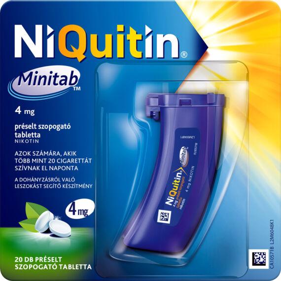 NiQuitin Minitab 4 mg préselt szopogató tabletta (1x20)