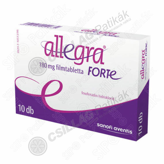 Allegra Forte 180 mg filmtabletta (10x)