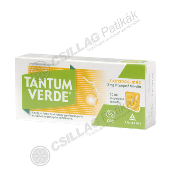 Tantum Verde narancs-méz 3 mg szopogató tabletta (20x trilamin.csom.)