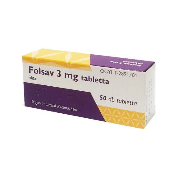 Folsav 3 mg tabletta (50x)