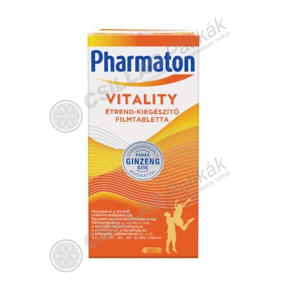 Pharmaton Vitality étrend-kiegészítő filmtabletta (60x)