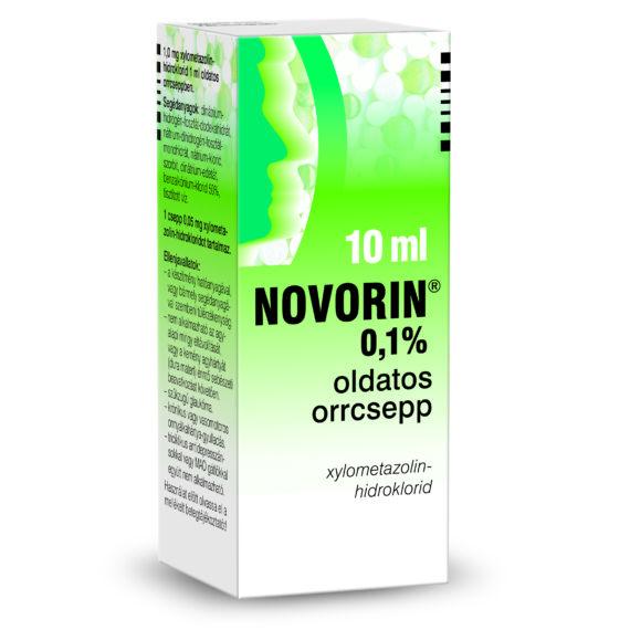Novorin 0,1% oldatos orrcsepp (10ml)