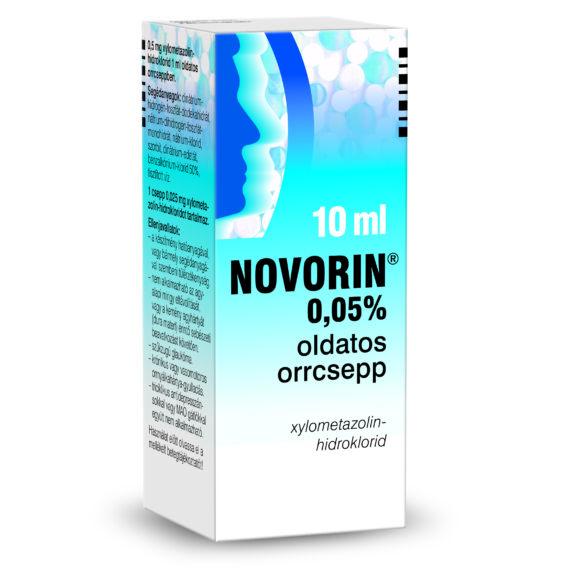 Novorin 0,05% oldatos orrcsepp (10ml)