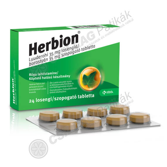 Herbion borostyán 35 mg szopogató tabletta (24x)