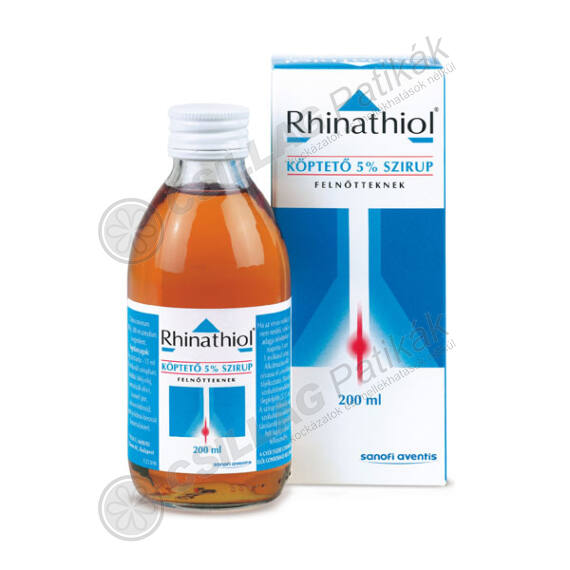 Rhinathiol köptető 50 mg/ml szirup felnőtteknek (1x200ml)