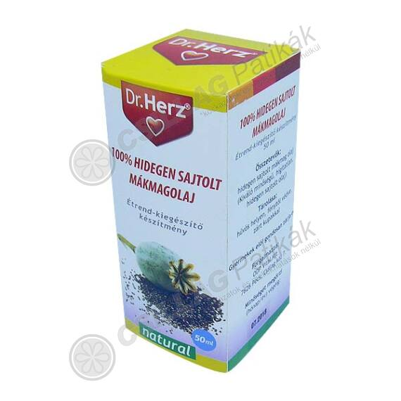 Dr.Herz Máriatövis olaj 100% hidegen sajtolt (50ml)