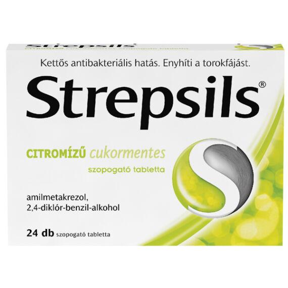 Strepsils citromízű cukormentes szopogató tabletta (24x)