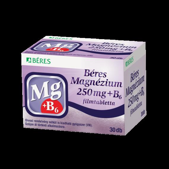 Béres Magnézium 250 mg+B6 filmtabletta (30x)