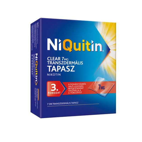 NiQuitin Clear 7 mg transzdermális tapasz (7x)