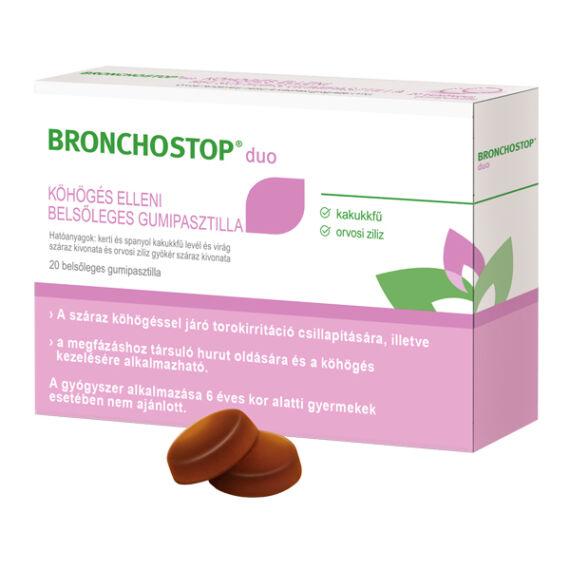 Bronchostop Duo gumipasztilla köhögés ellen (20x)
