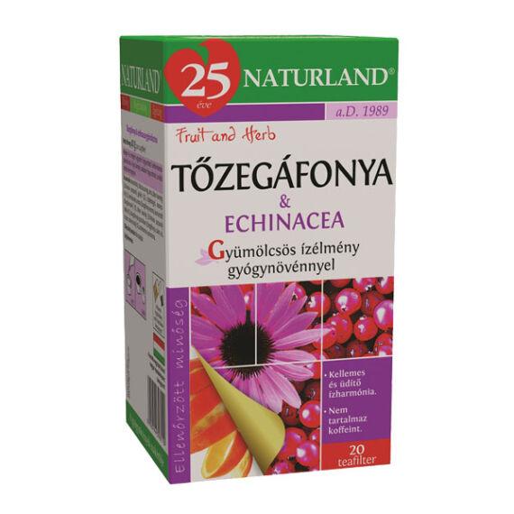 Naturland gyümölcstea Tőzegáfonyával és echinacia. (20x2g)