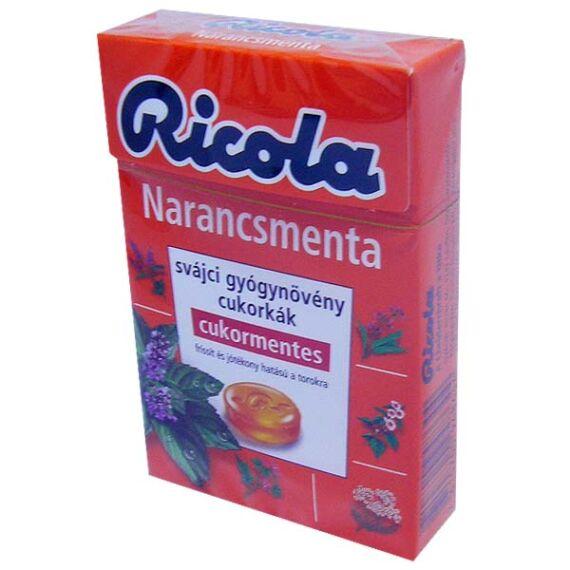 Ricola cukormentes cukorka Orange Mint (40g)