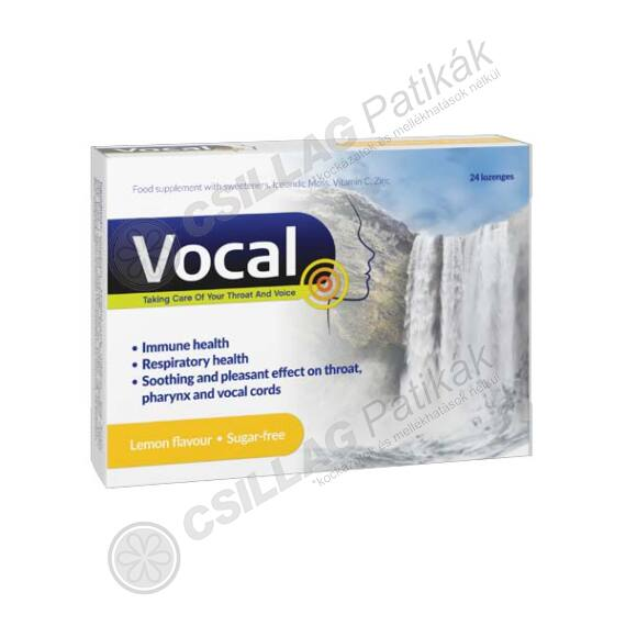 Vocal szopogató tabletta Citrom (24x)