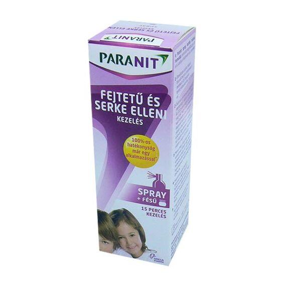Paranit fejtetű és serke elleni spray+fésű (100ml)