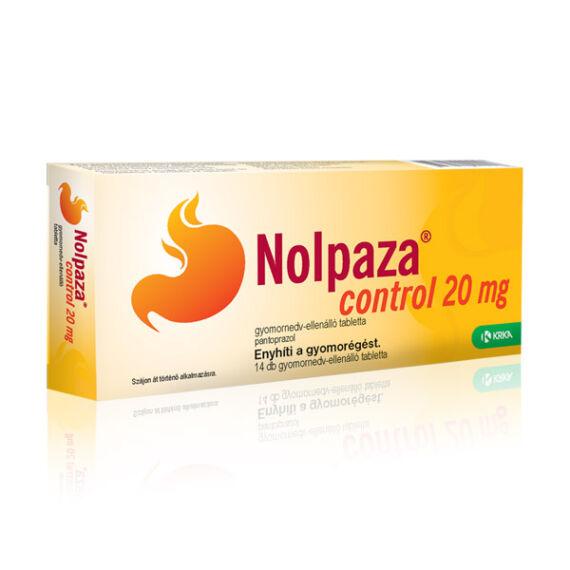Nolpaza Control 20 mg gyomornedv-ellálló tabletta (14x (buborékcsomagolás))