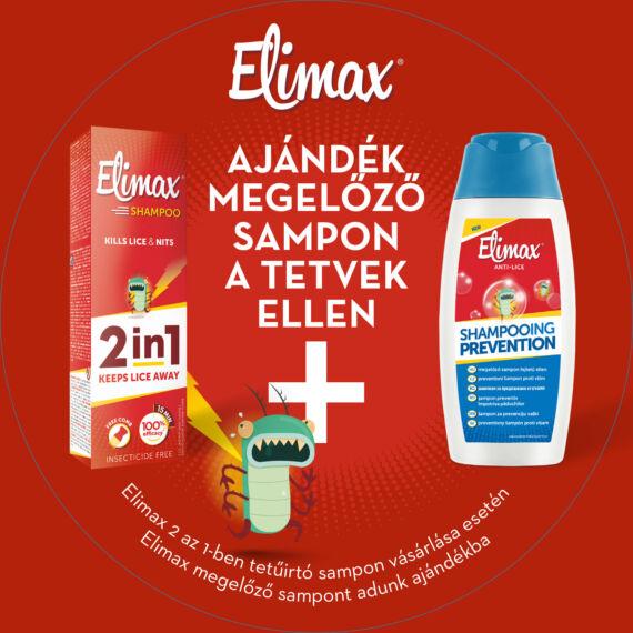 Elimax 2in1 tetűírtó sampon + AJÁNDÉK megelőző sampon